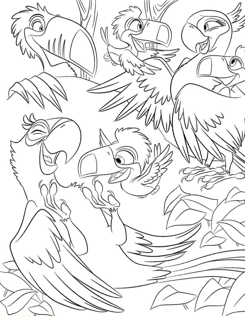 Rio 2 In Coloring Pages Eson Me With
