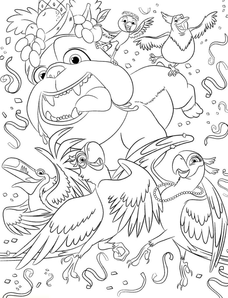 Coloring Pages © Rio