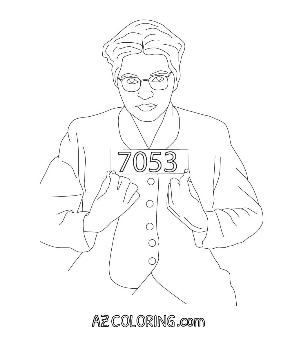 Rosa Parks Coloring Page Rosa Parks Coloring Page Home Lively