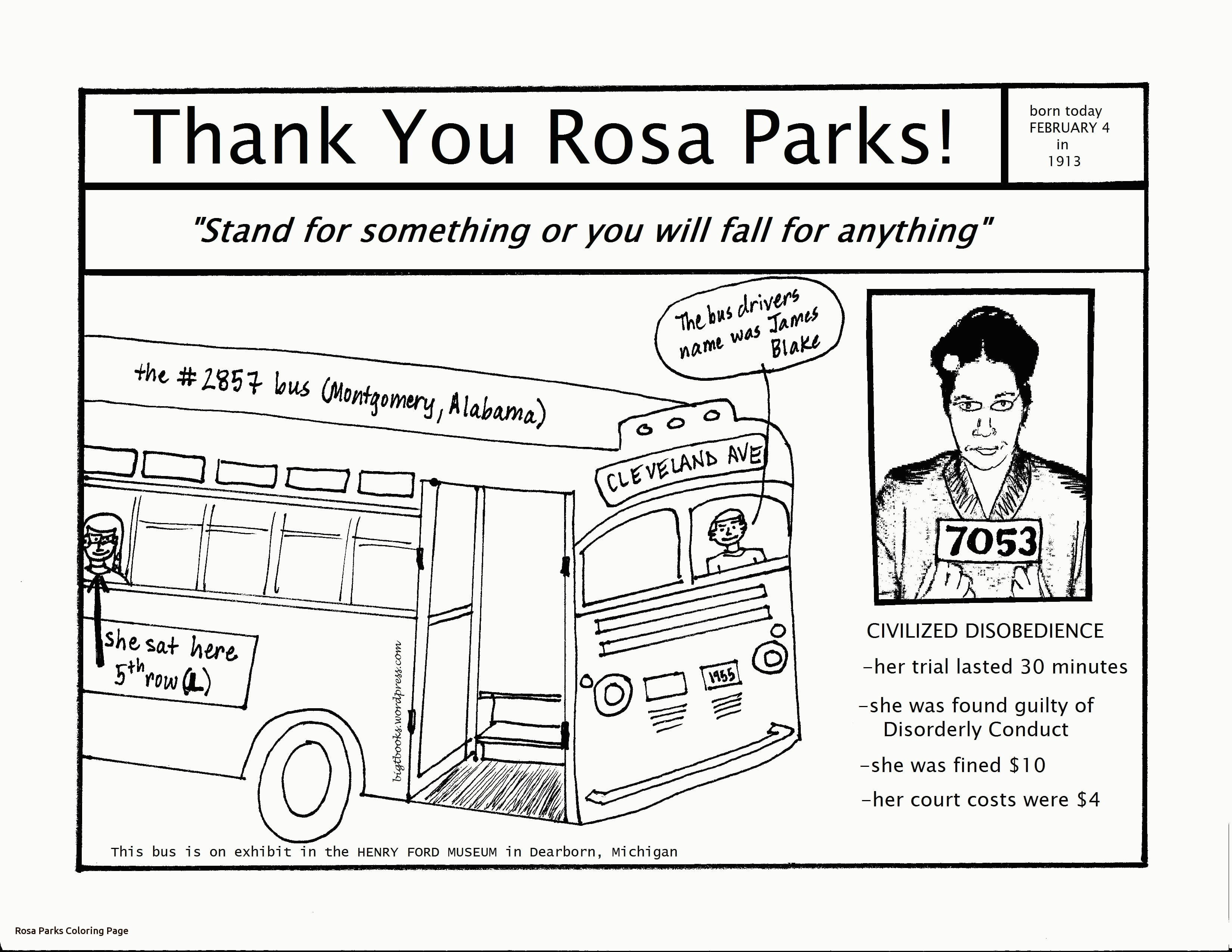 Rosa Parks Coloring Page With 0