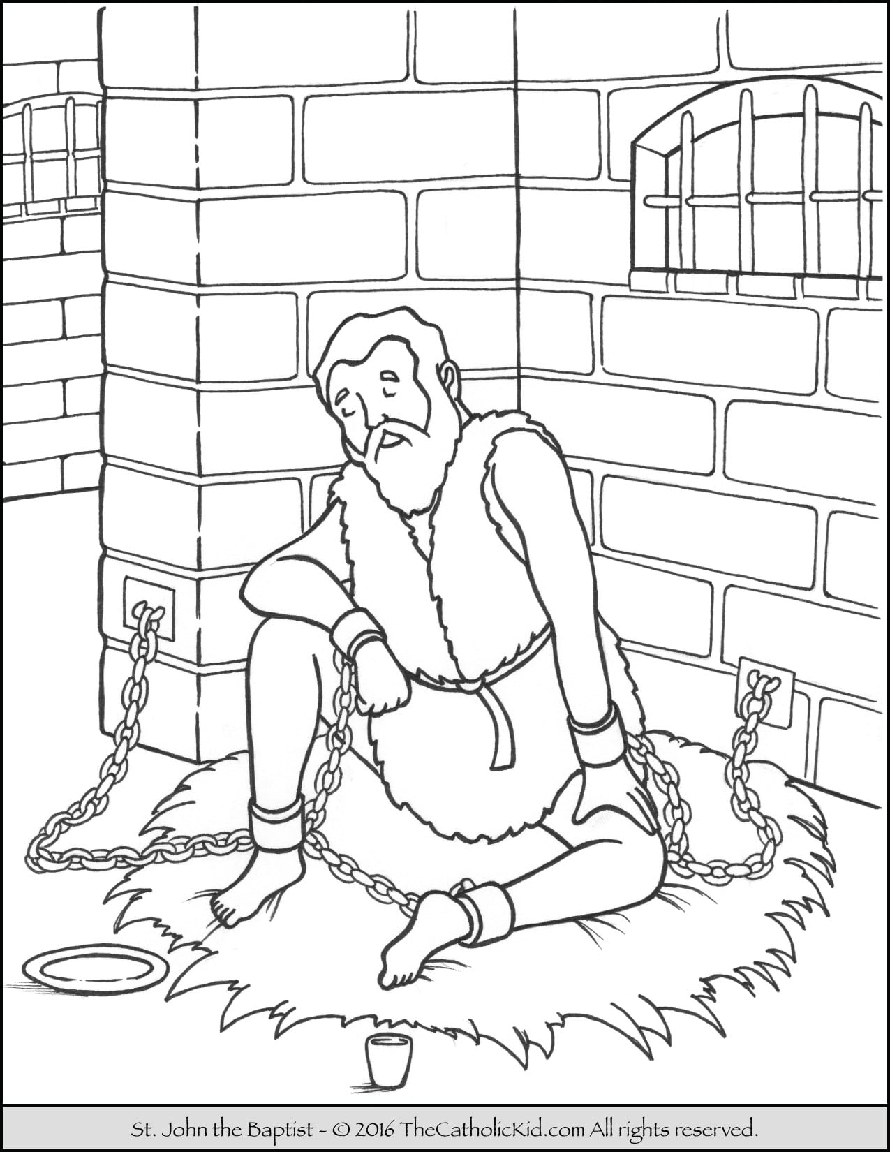 Saint John The Baptist Coloring Pages Catholic Kid Best Of Page