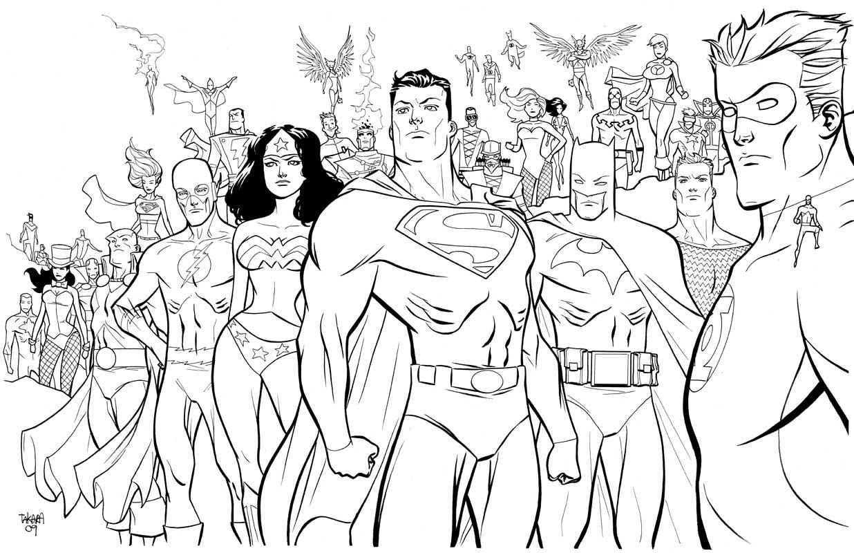Sampler Marvel Comic Book Coloring Pages Dc Comics Super Heroes 8