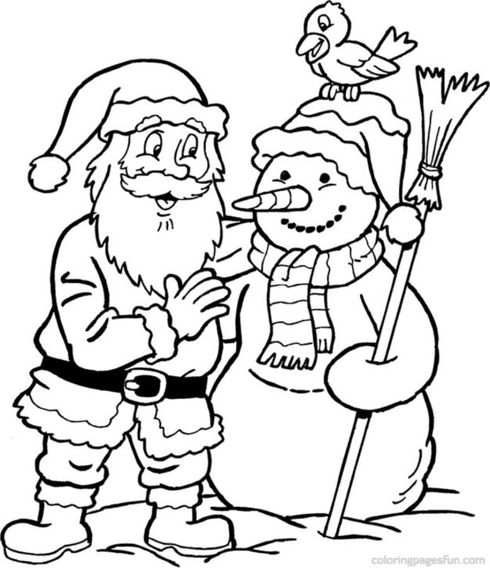 Santa Surfing Coloring Page Free Printable Pages Within Xmas