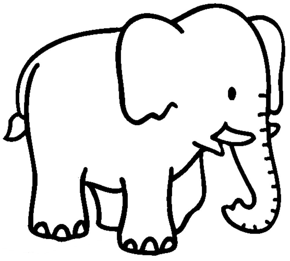 Scarce Elephant Coloring Pages 1 Of With Within Page