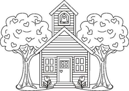 School Coloring Pages School Bus Coloring Sheet 4406