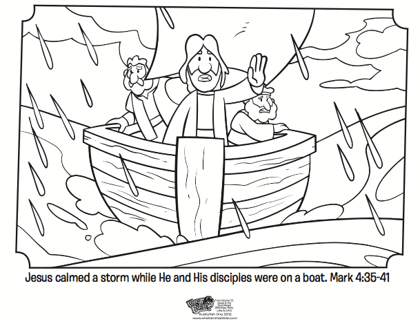 Bible Coloring Pages Jesus Calms The Storm