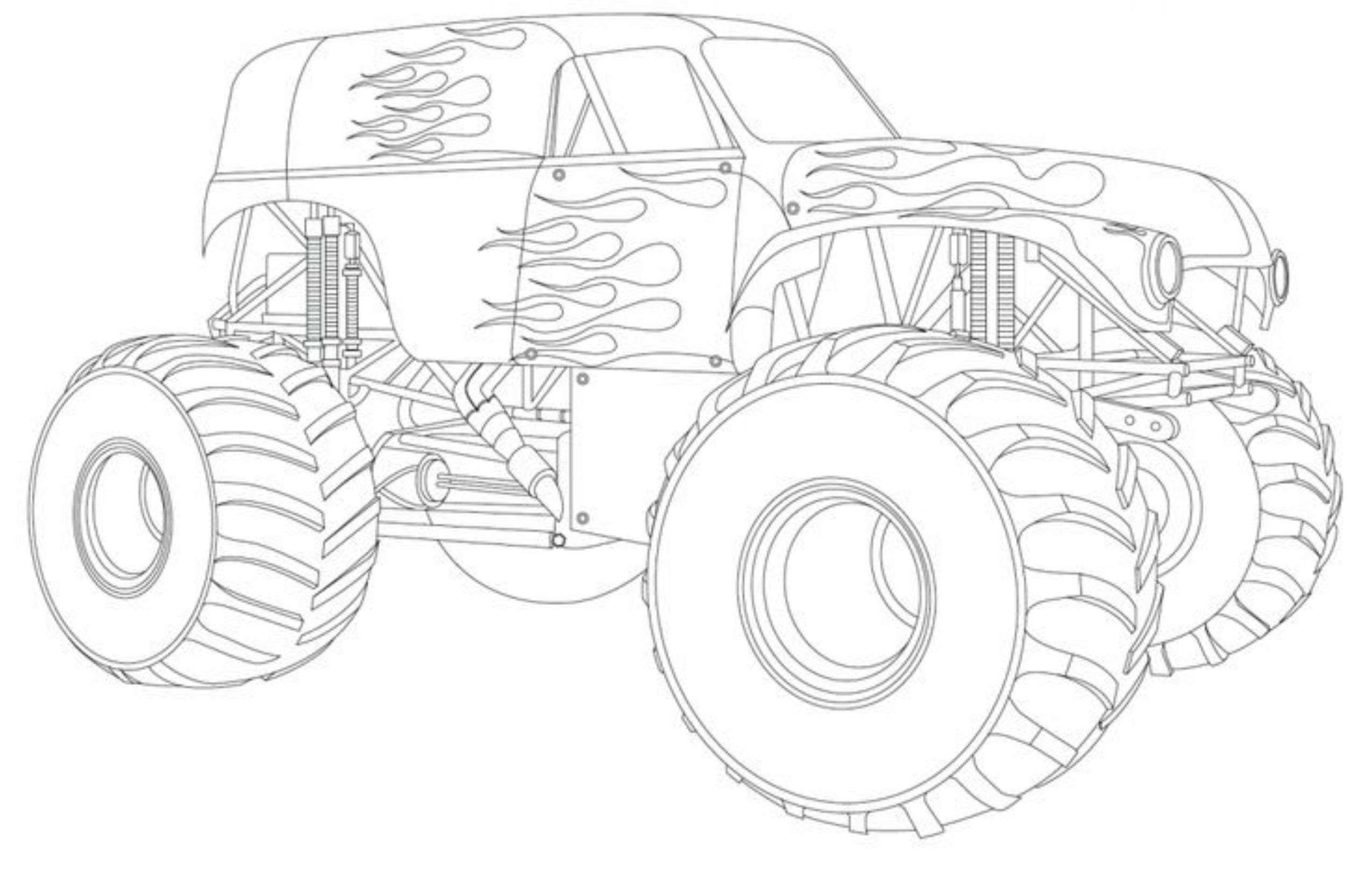 Outstanding Monster Jam Coloring Pages Printab  10307