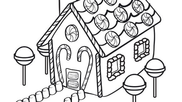 Nice Ideas Gingerbread Coloring Pages Christmas Gingerbread