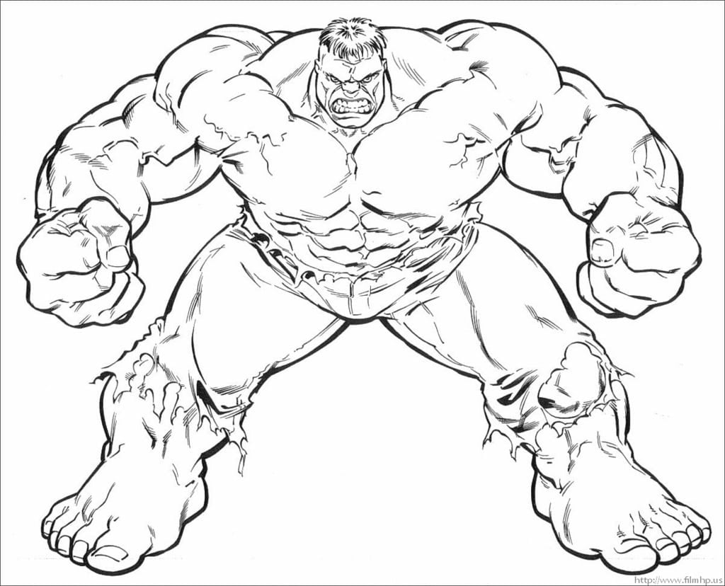 Simple Hulk Coloring Pages Have Hulk Coloring Pages On With Hd