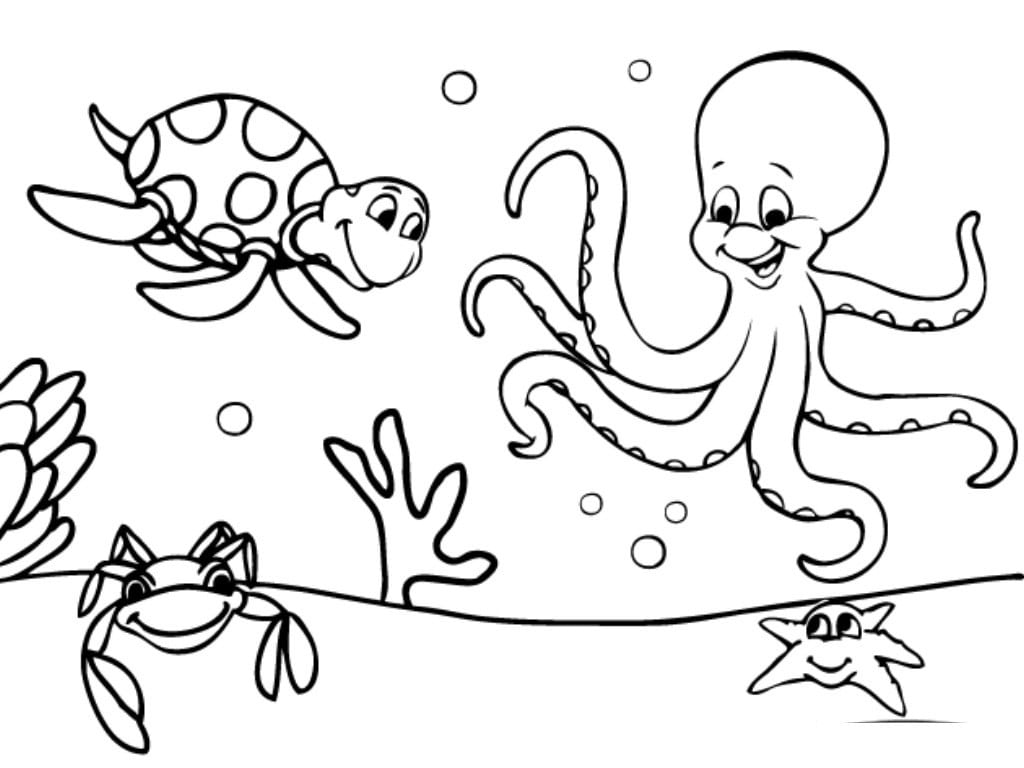Simple Ocean Coloring Pages Free Printable Ocean Coloring Pages