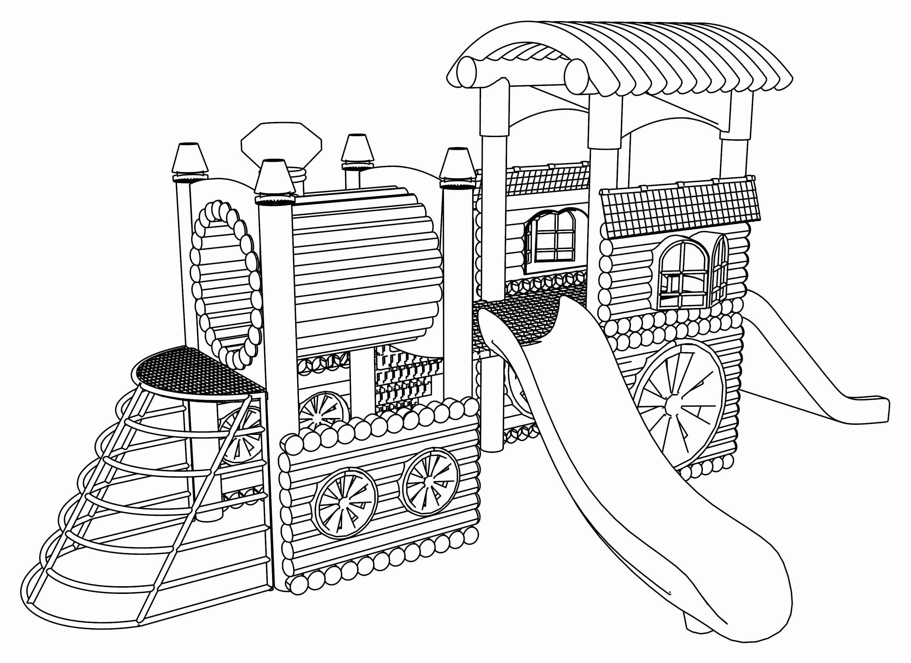 Sizable Free Playground Coloring Pages Wecoloringpage Beautiful
