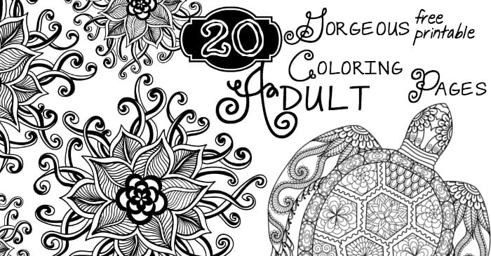 Smart Inspiration Free Adult Coloring Page 20 Gorgeous Printable