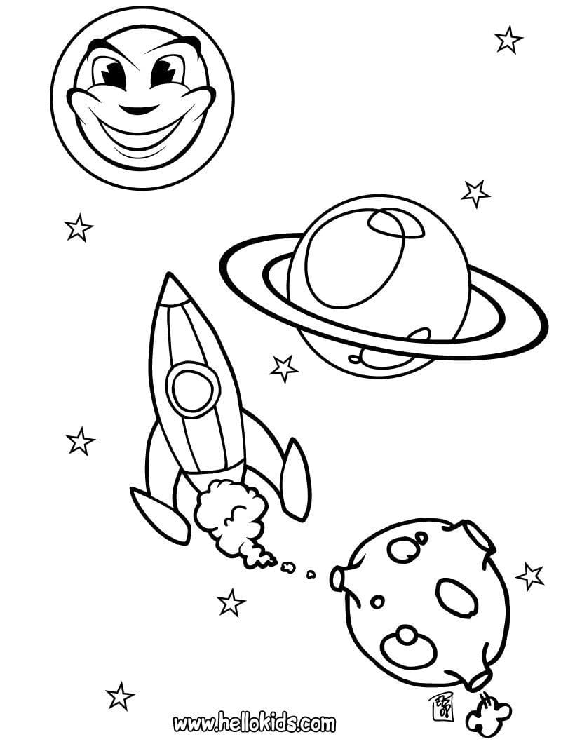 Jupiter Coloring Pages