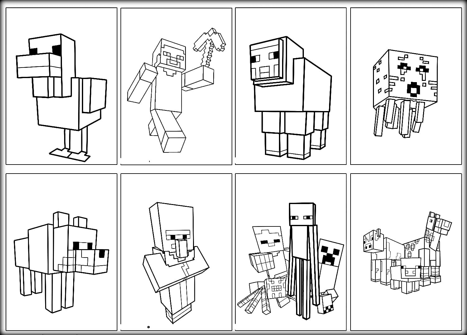 Special Mine Craft Coloring Pages Minecraft Free Bloodbrothers Me
