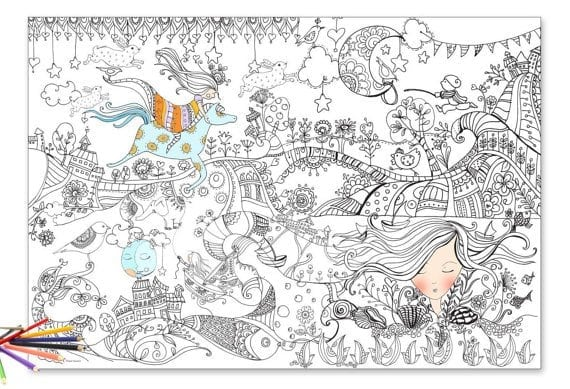 Splendid Design Giant Coloring Pages For Adults Poster Page