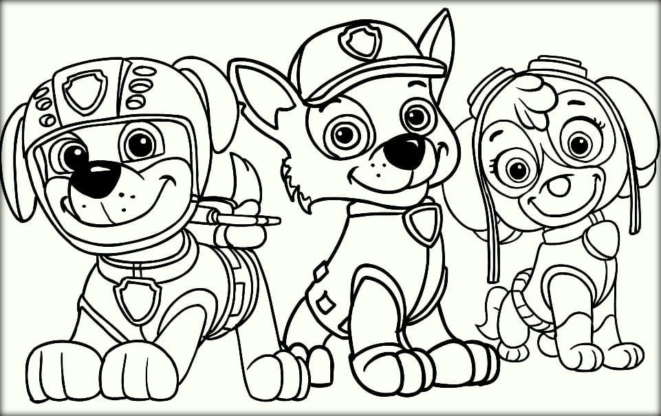 Paw Patrol Coloring Pages For Toddlers On Coloring Pages Design