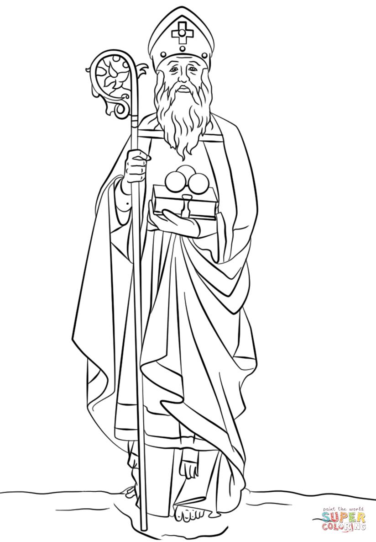 St  Nicholas Coloring Page