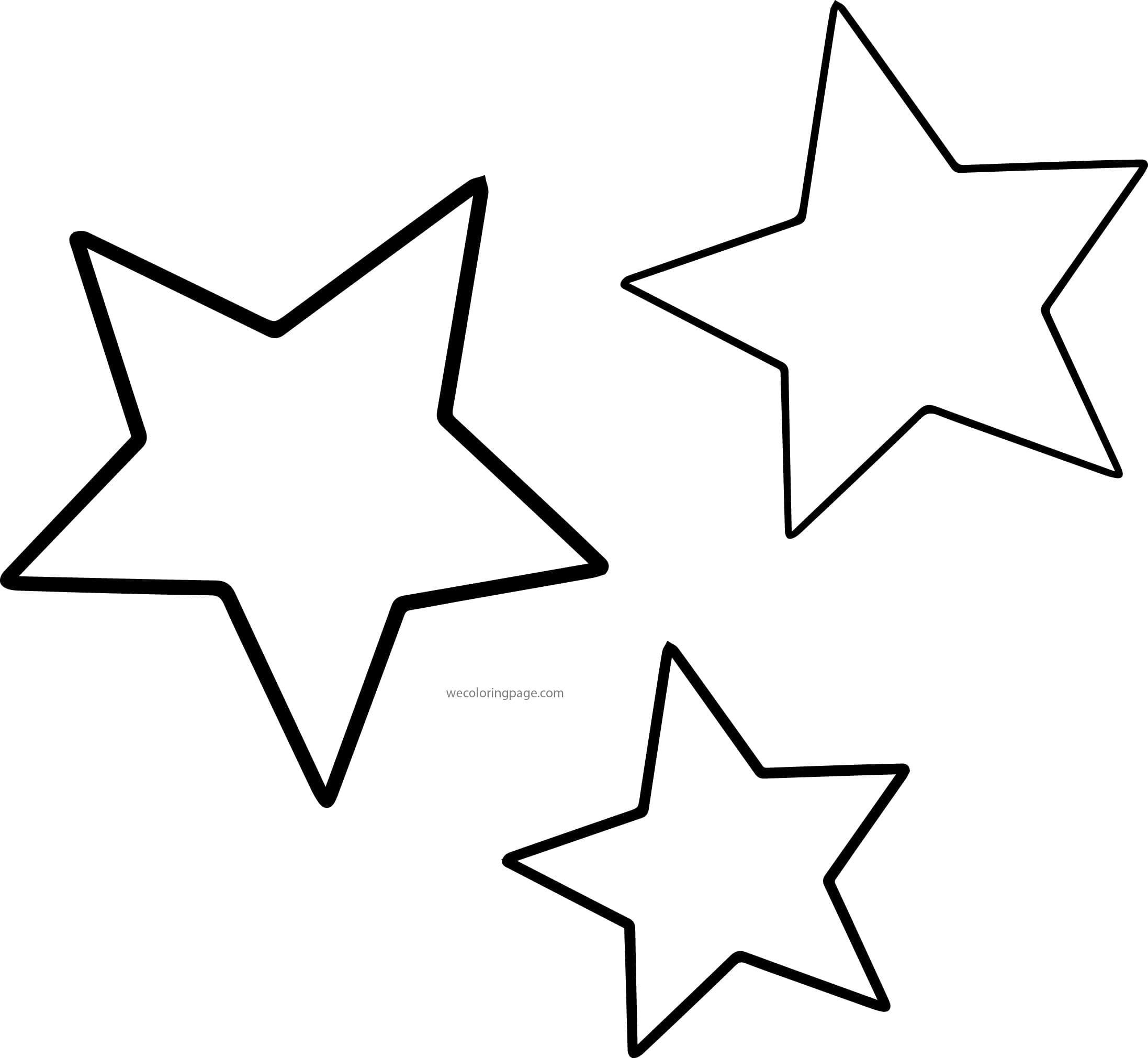 Star Colouring Page 20 Coloring Pages For Preschoolers Archives In
