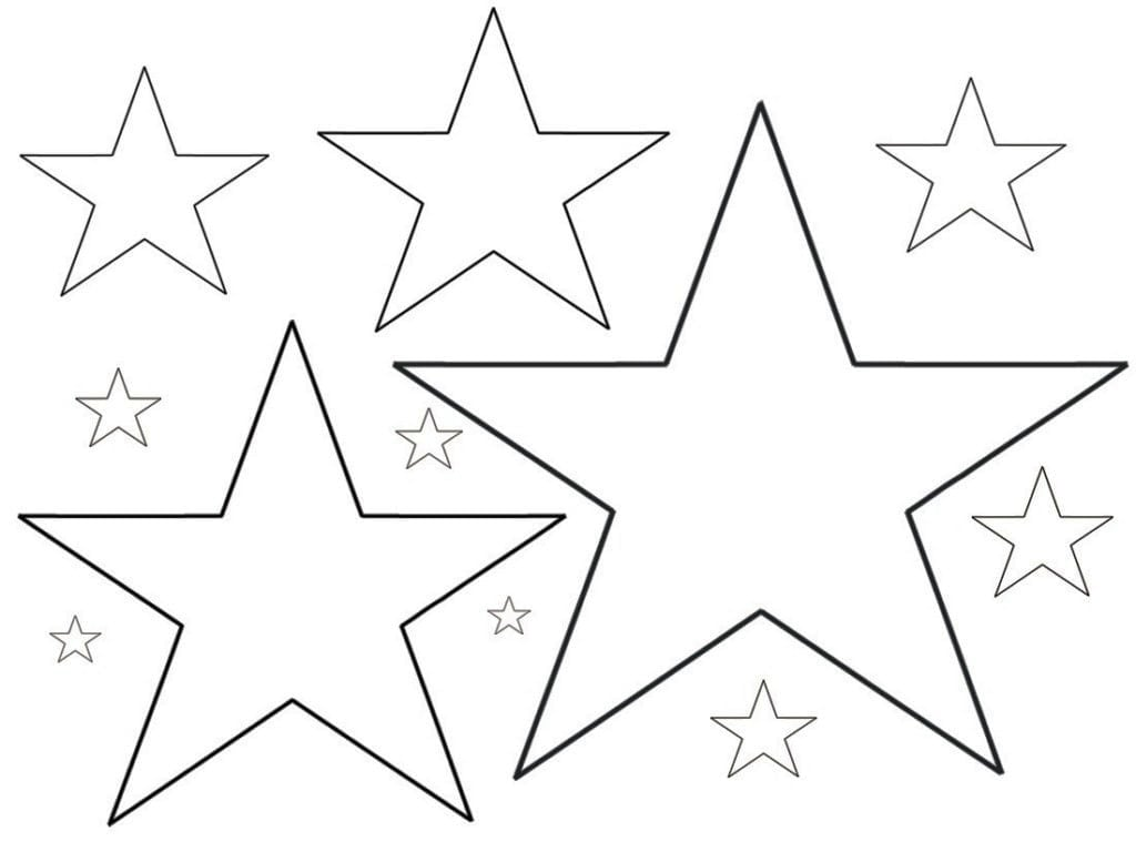 Star Printable Coloring Pages Within