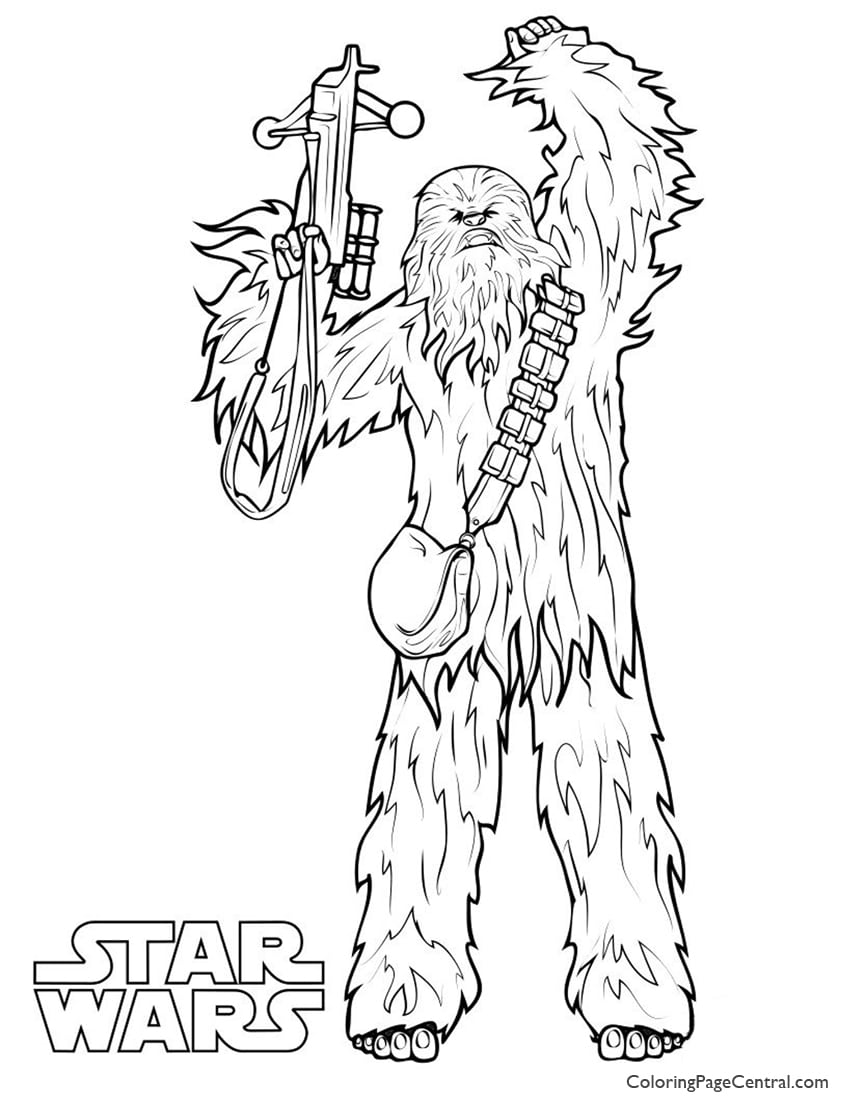 Star Wars – Chewbacca Coloring Page