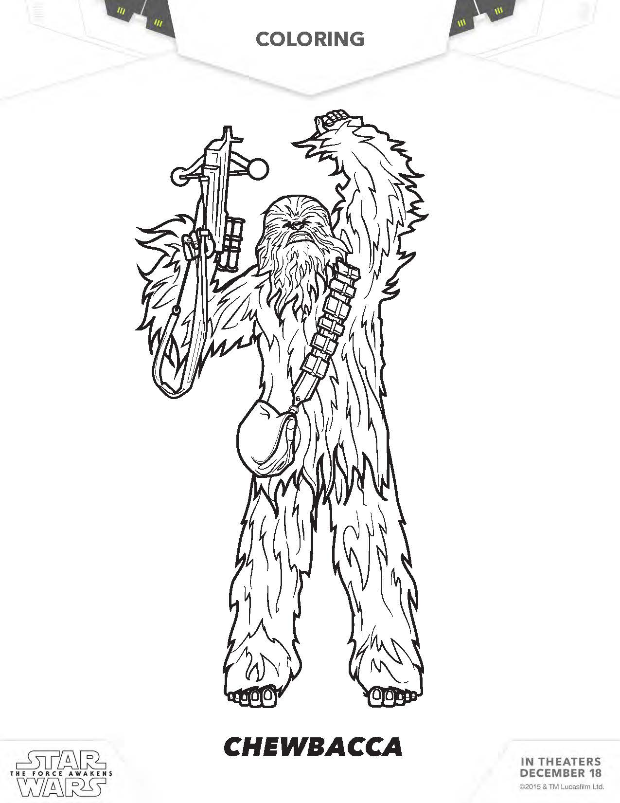 Star Wars Coloring Pages To Print Chewbacca Costume Diy The Art