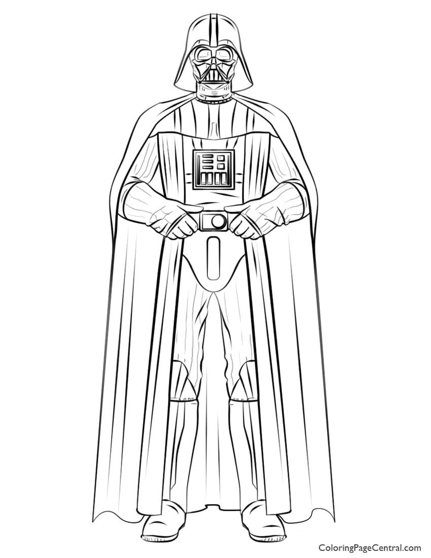 Star Wars – Darth Vader 01 Coloring Page