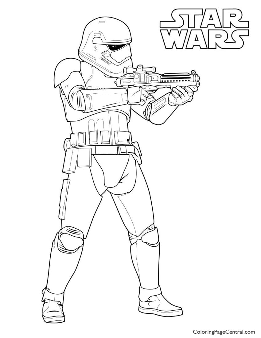 Star Wars – First Order Storm Trooper Coloring Page