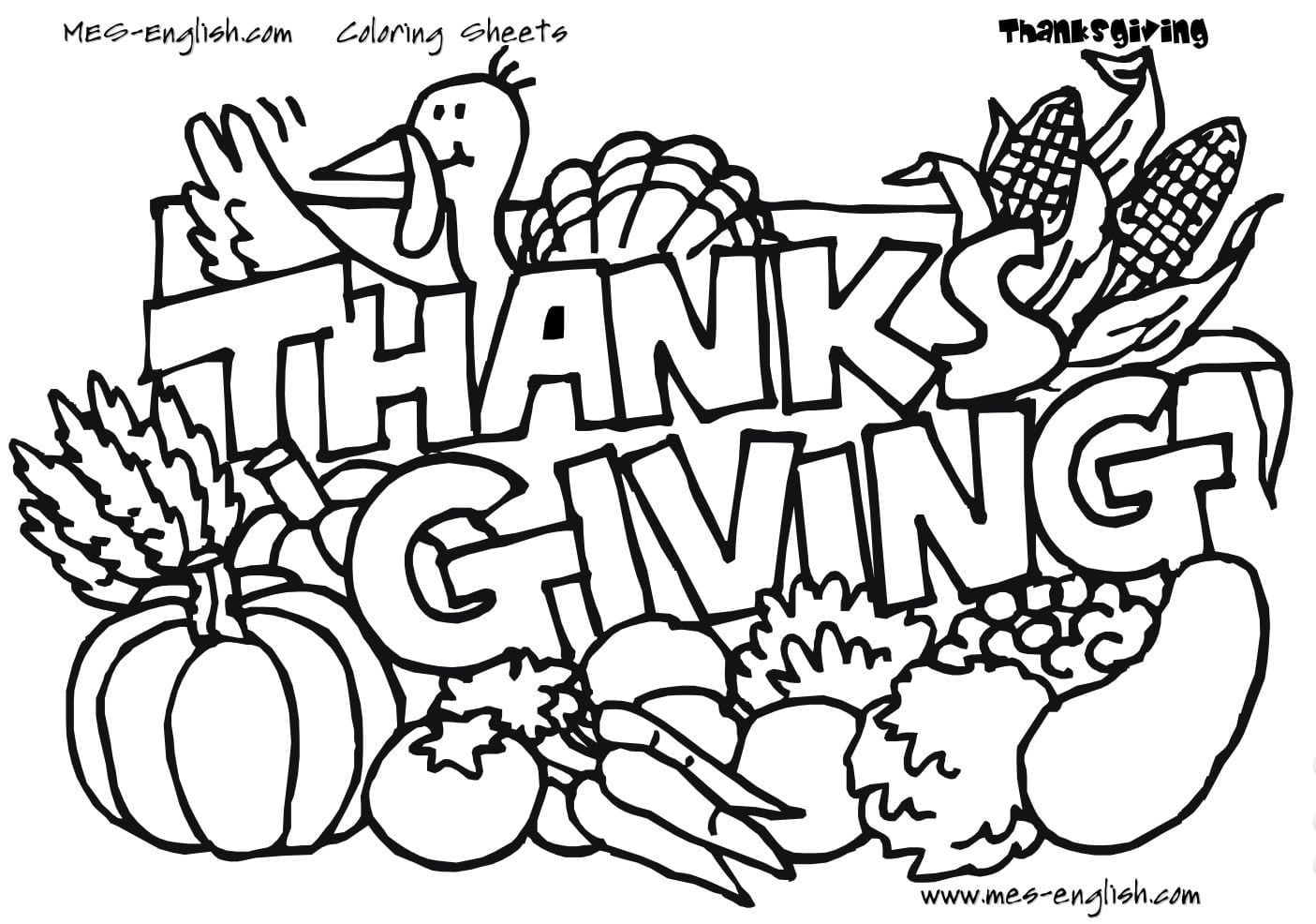Free Adult Thanksgiving Coloring Pages  12769