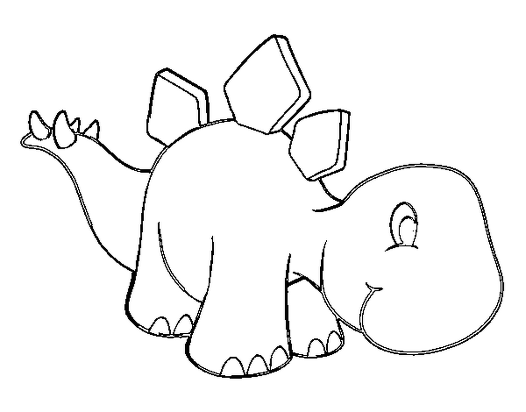 Stegosaurus Coloring Page 14 Stegosaurus Coloring Page