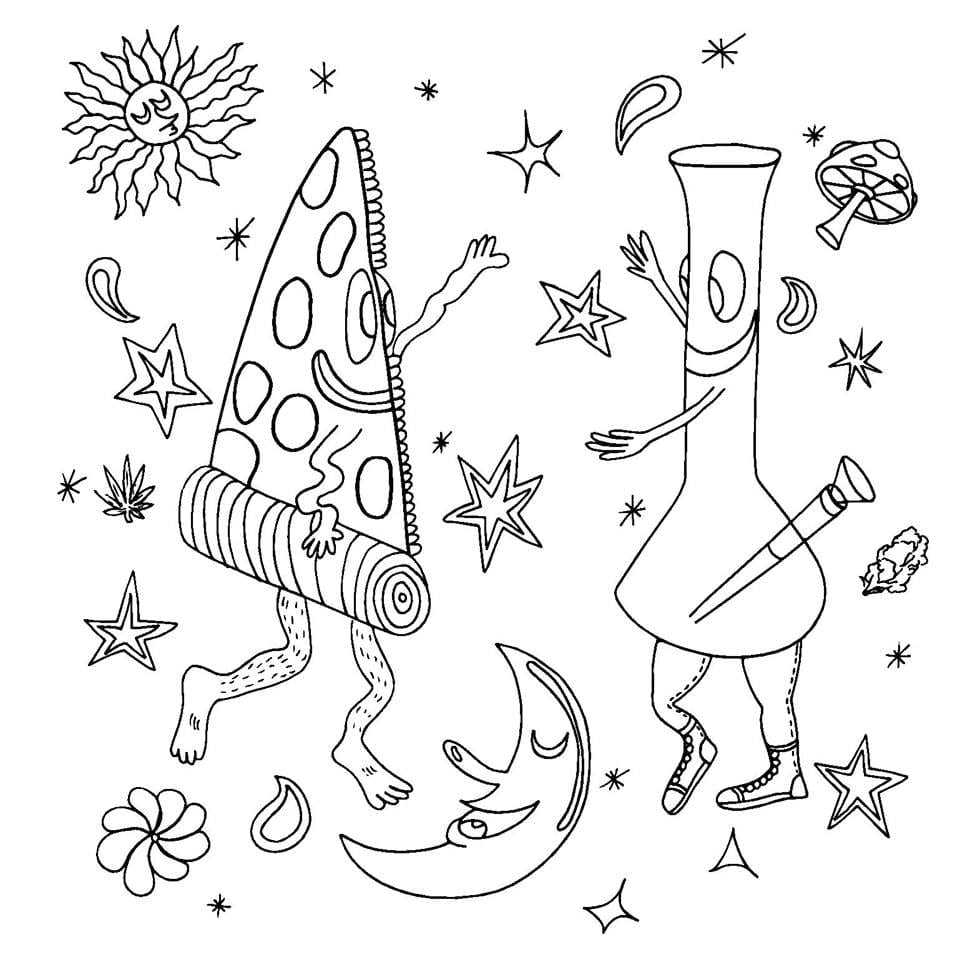 The Stoner's Coloring Book