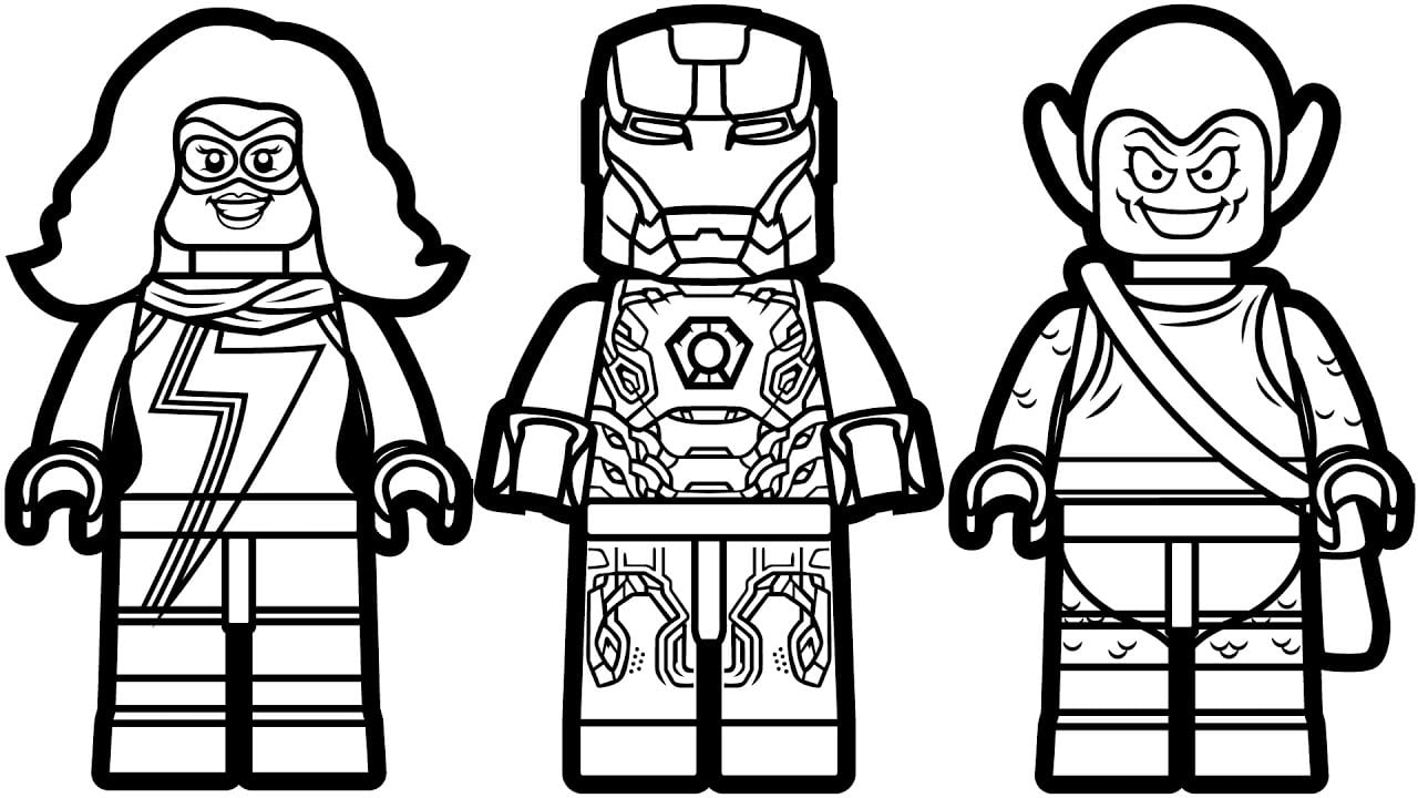Strikingly Inpiration Marvel Coloring Pages Lego Iron Man Vs Ms