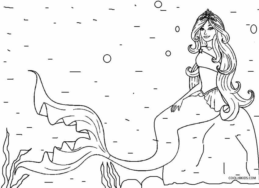 Interesting Design Mermaid Coloring Page Mermaid Coloring Page