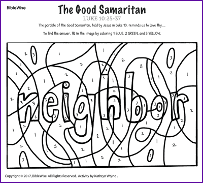 Awesome And Beautiful Good Samaritan Coloring Page The