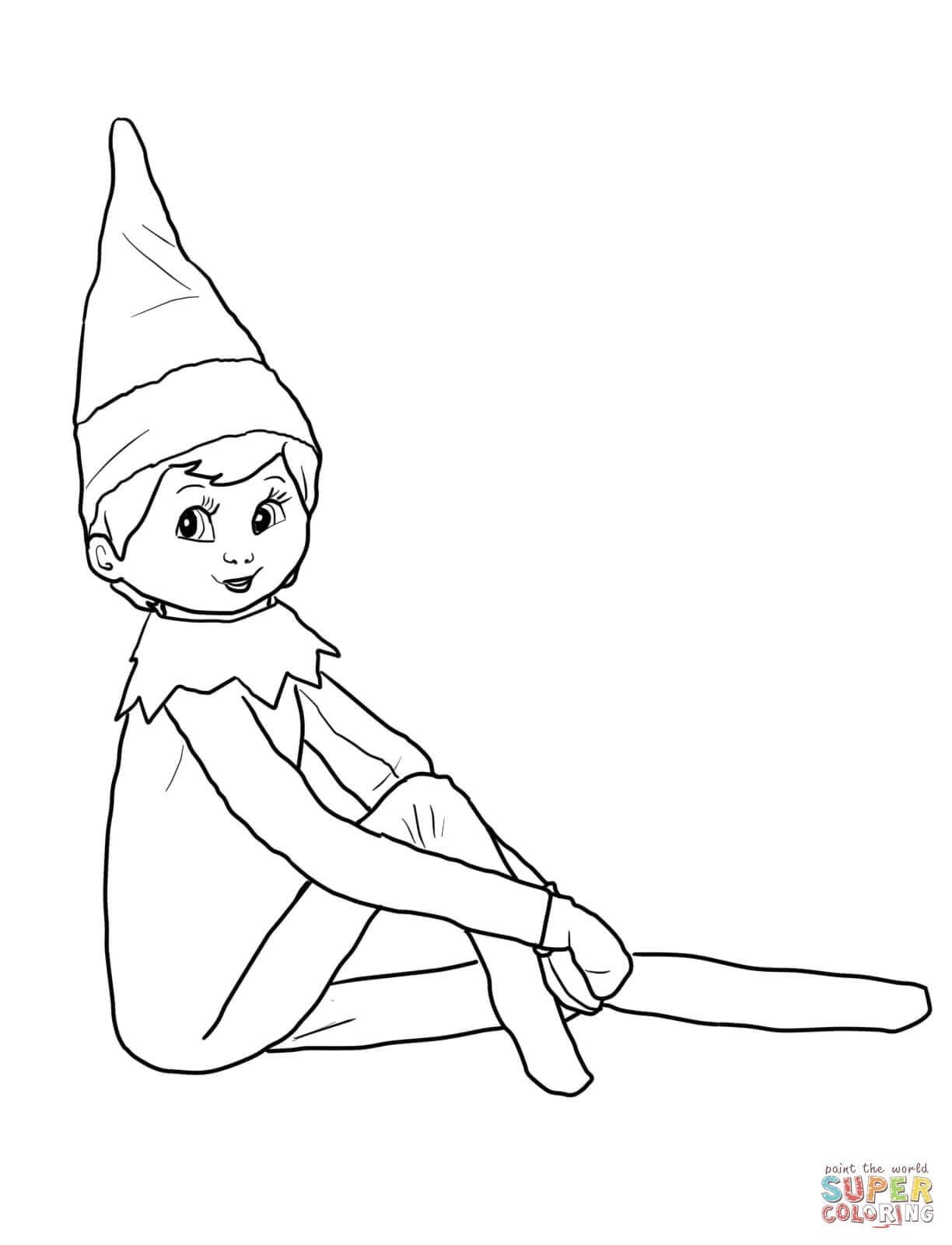Surprise Elf Pictures To Color Compromise On The Shelf Coloring