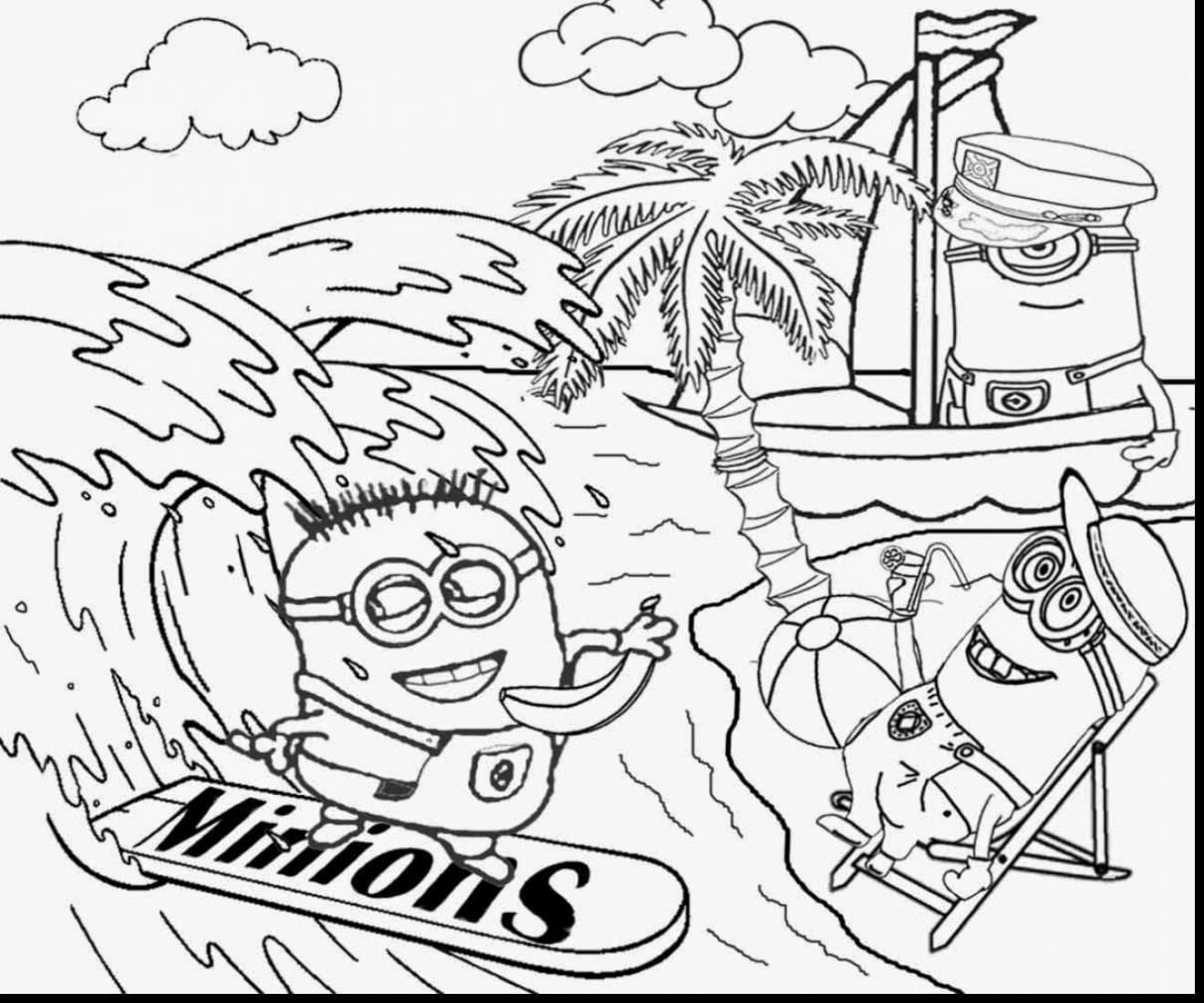 Terrific Minions Coloring Pages Top 35 Despicable Me 2 For Your