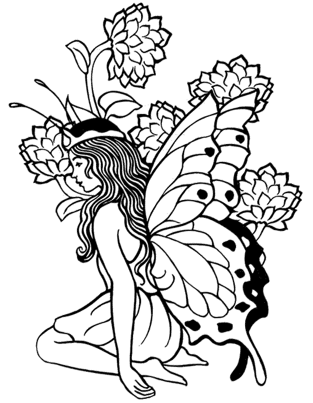 Survival Free Printable Fantasy Coloring Pages For Adults Fairy