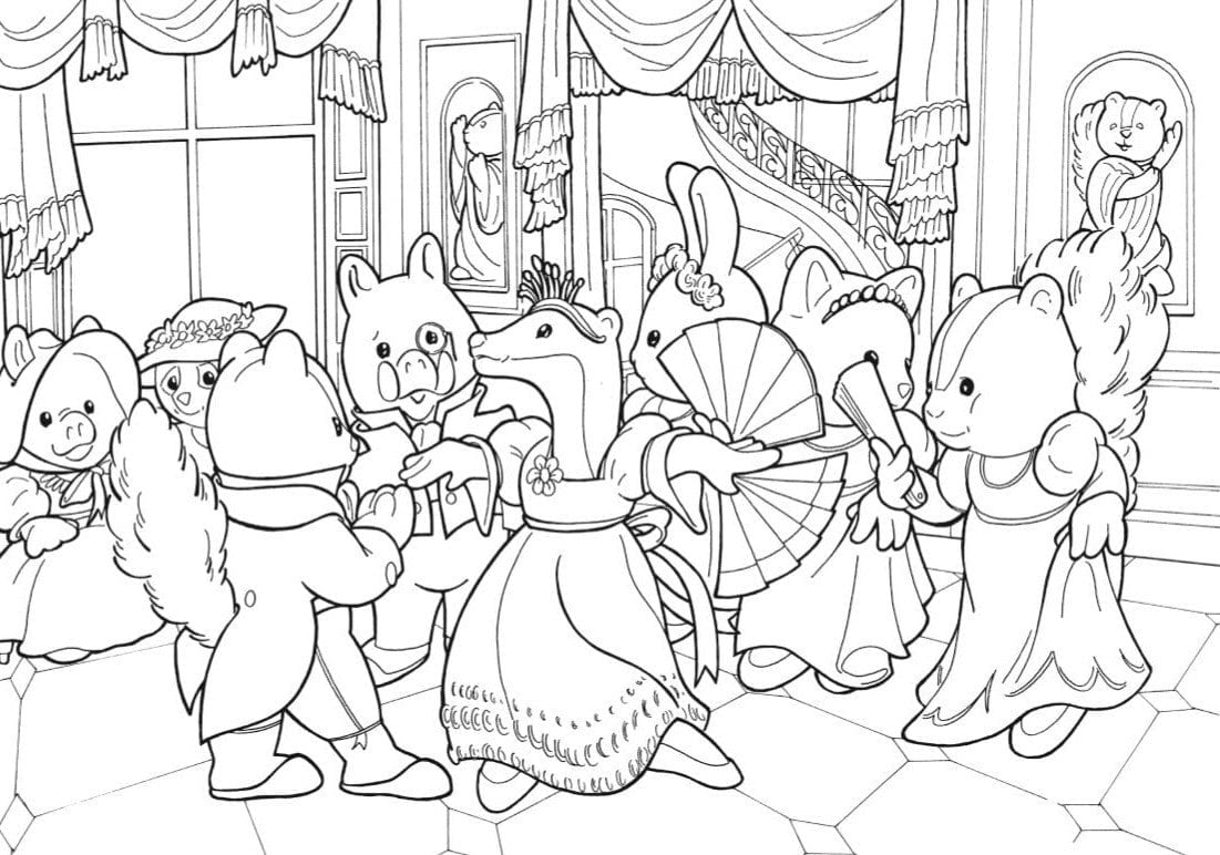 Sylvanian Familys 07 Calico Critters Coloring Pages