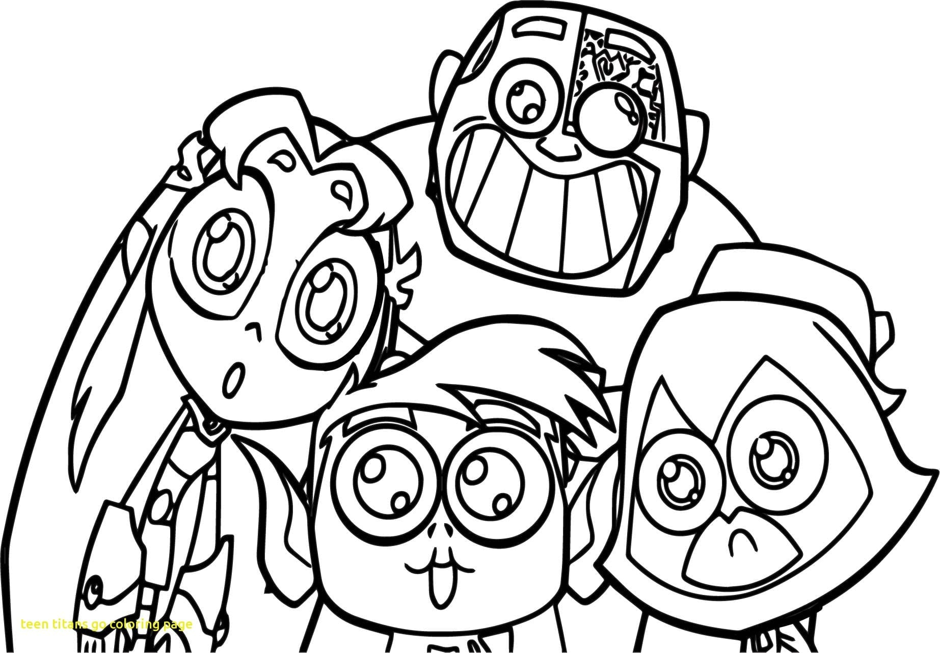 10 Free Printable Teen Titans Go Coloring Pages Within Page