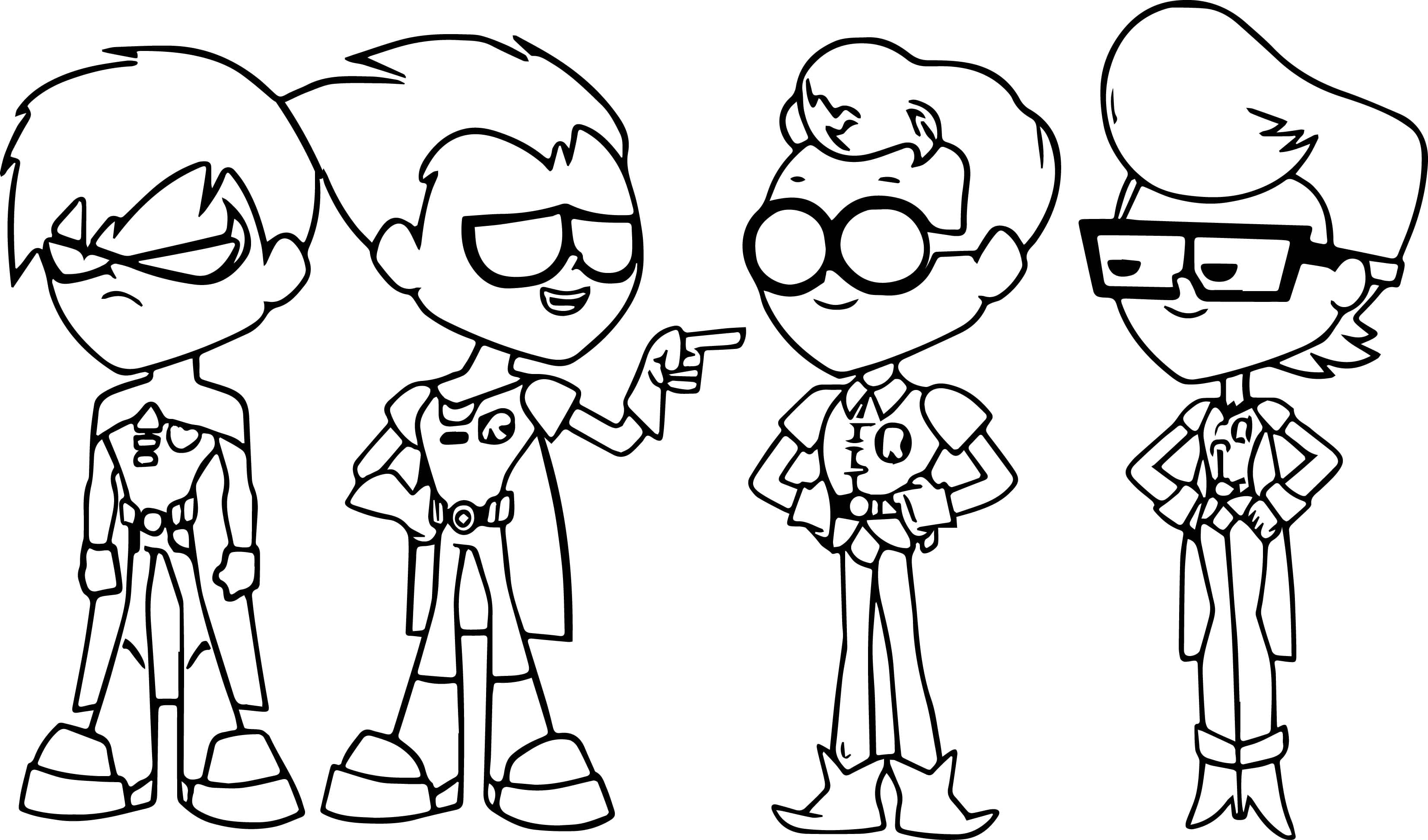 Teen Titans Go Coloring Pages Best Page Bloodbrothers Collection