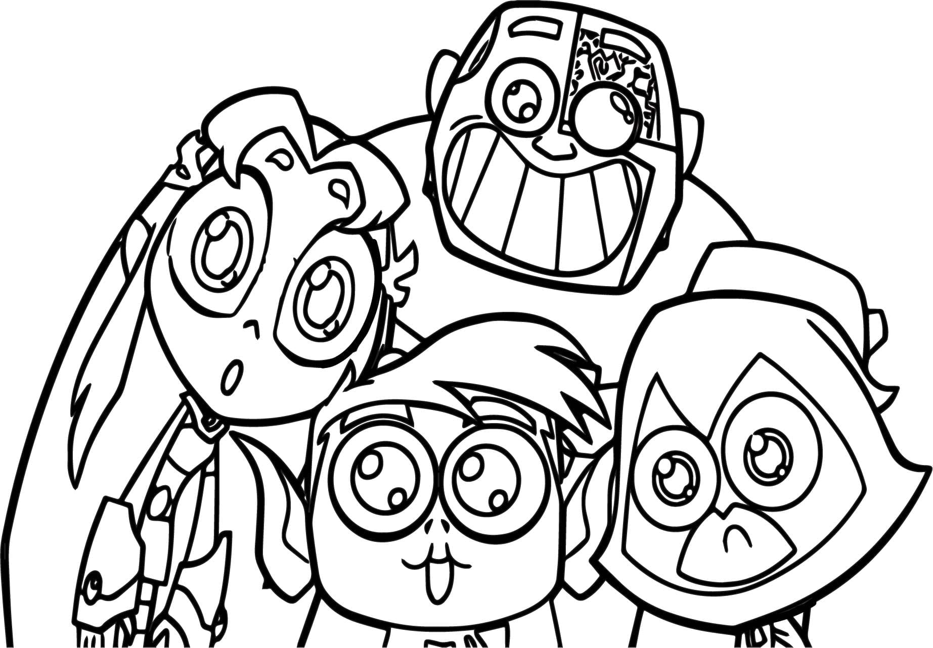 Teen Titans Go Coloring Pages With