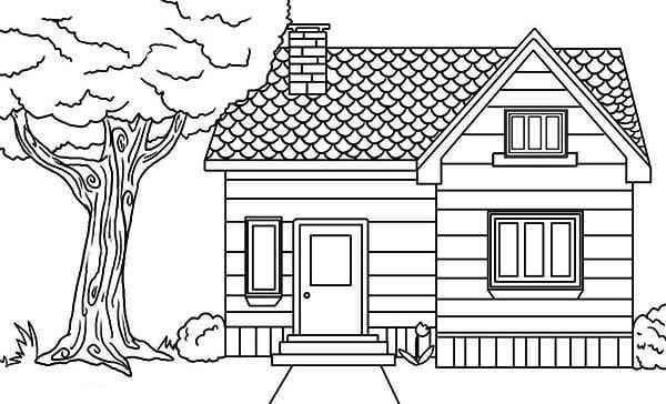 Ravishing House Coloring Page Preschool For Beatiful Houses