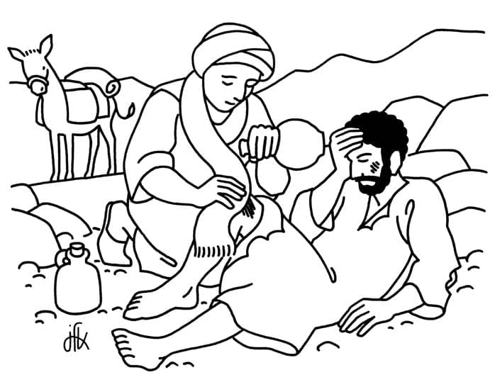 The Good Samaritan Coloring Page Trend Good Samaritan Coloring