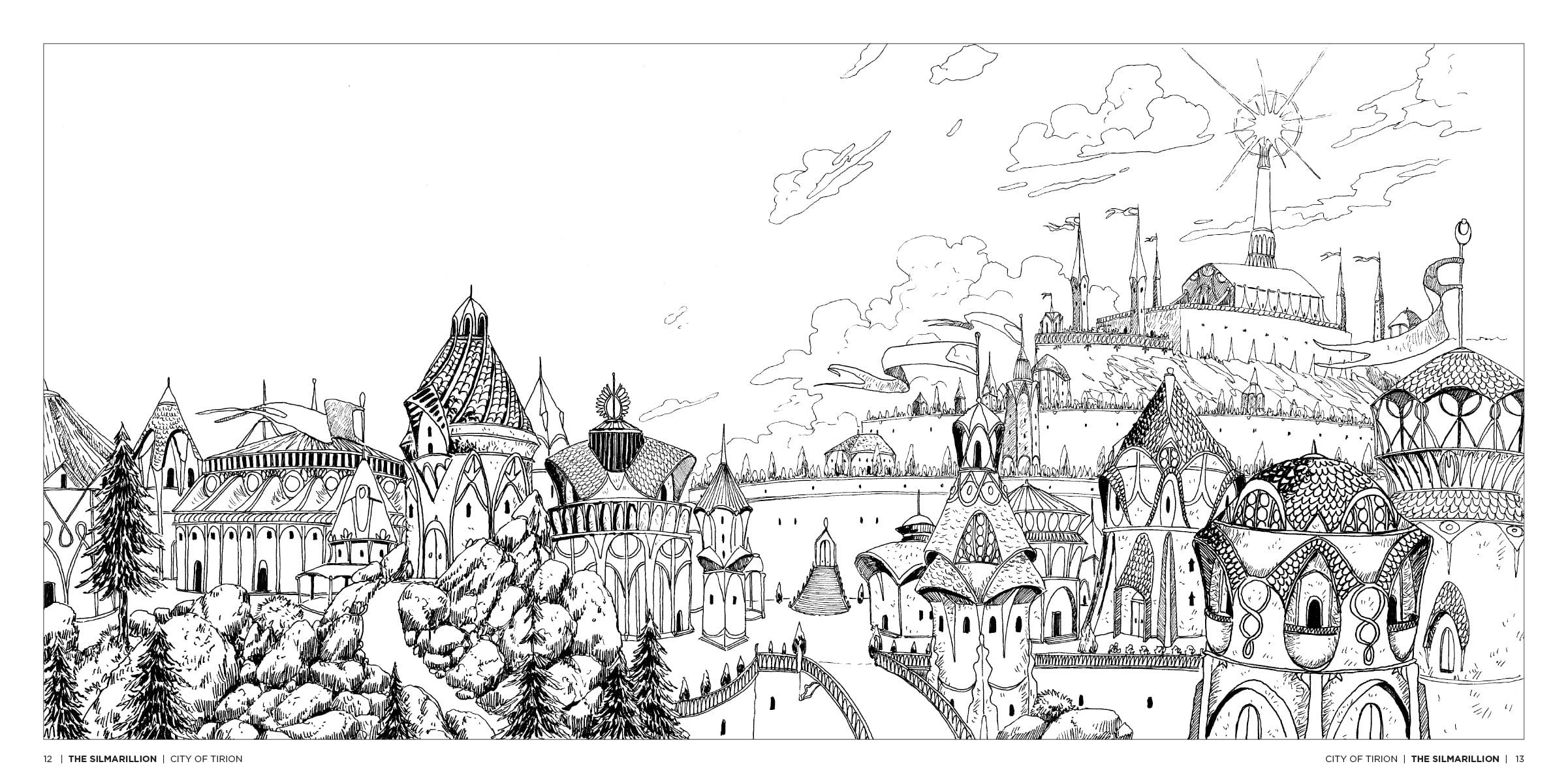 Tolkien S World A Colouring Book Free Pattern Download Whsmith And
