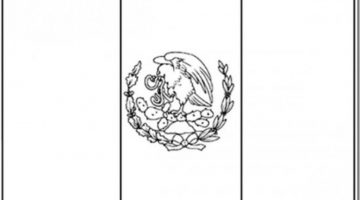Mexico Flag Coloring Page