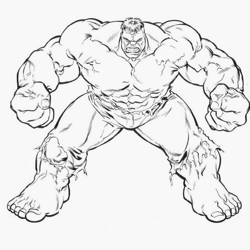 Top Kpc At Hulk Coloring Pages On With Hd Resolution 994x994