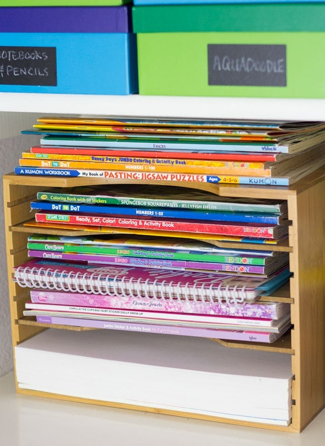 Great Coloring Book Storage