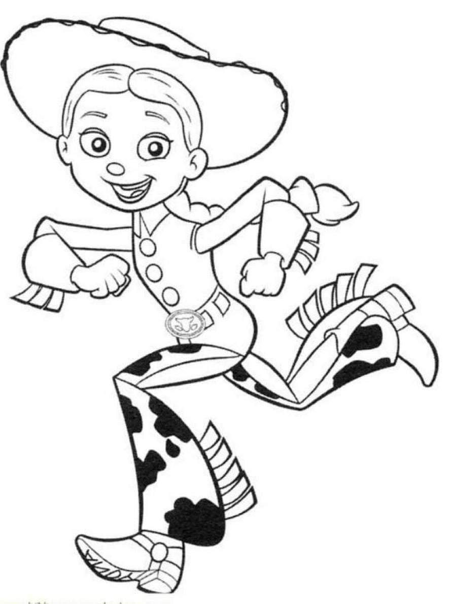 Running Jessie Free Coloring Page • Disney, Kids, Toy Story