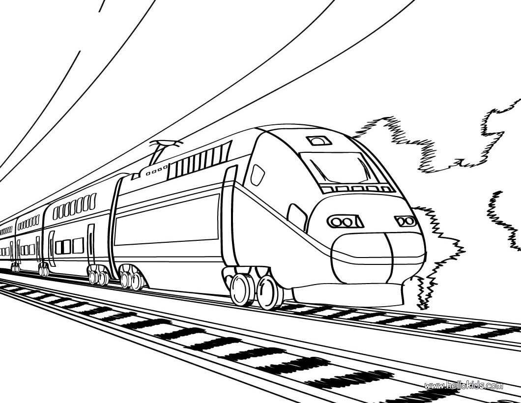 Train Coloring Pages 16 With Train Coloring Pages