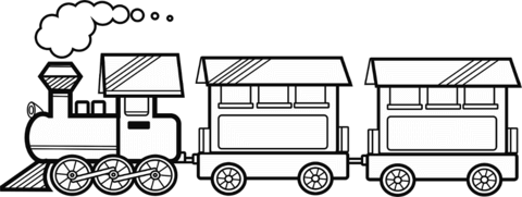 Train With Two Awesome Train Coloring Pages