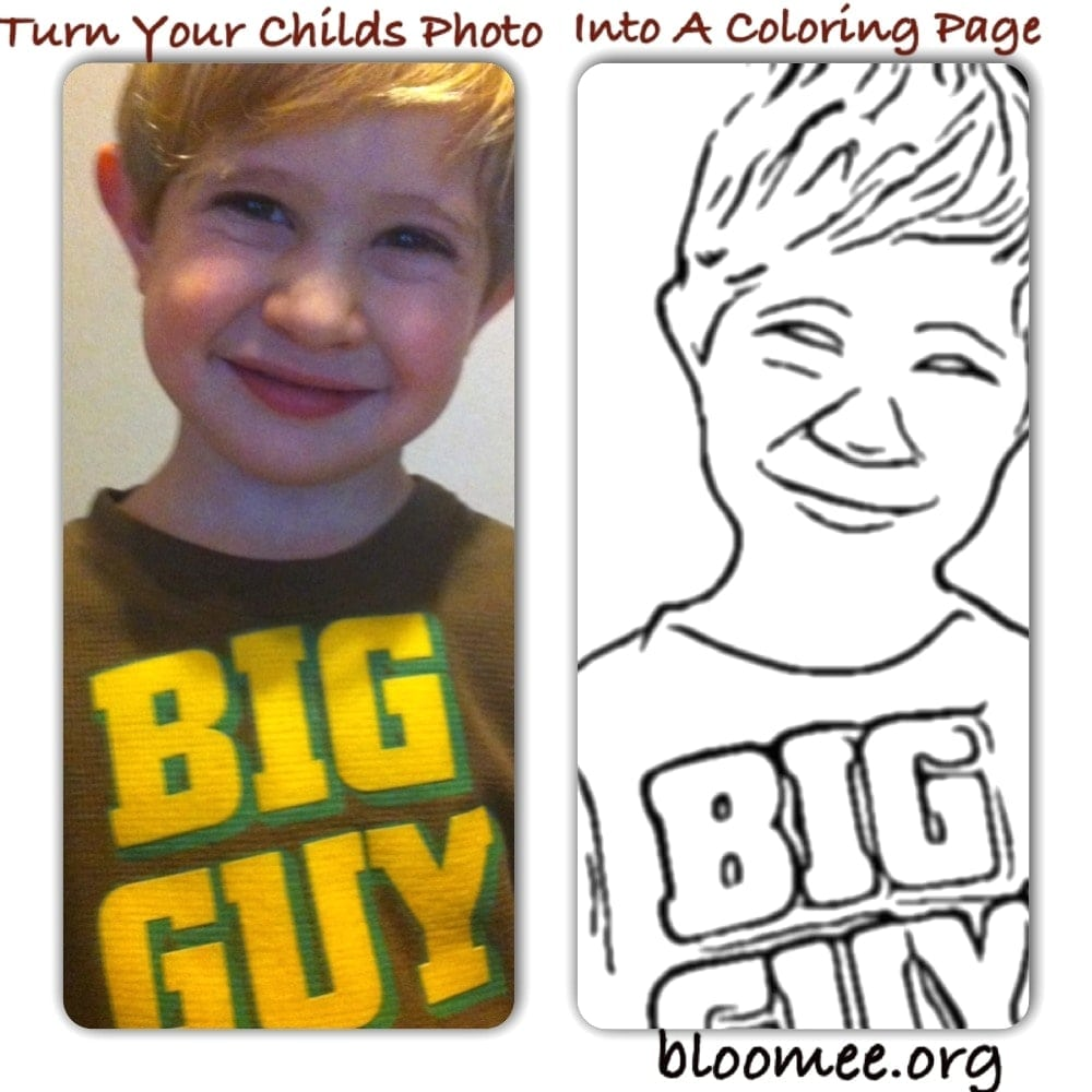 Turn Photos Into Coloring Pages For Children Picture Page